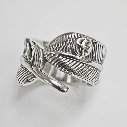 Leaf Stainless Steel Ring  81-1215-Y