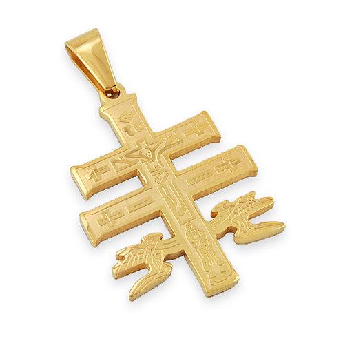 Caravaca Cross Gold Plated Pendant 86-974G