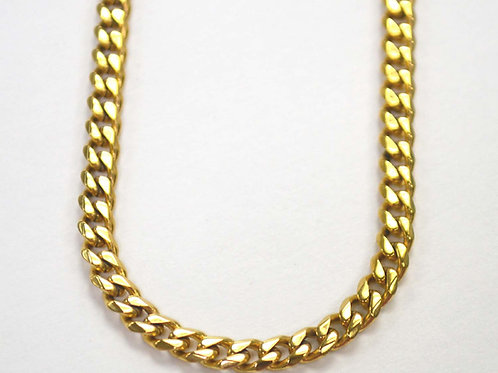 5mm Miami Cuban Gold IP Plated Bevel Cut Chain