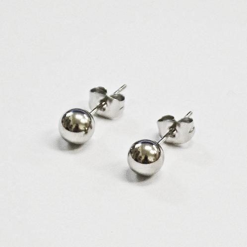 6MM BALL STUD EARRINGS-10 PRS