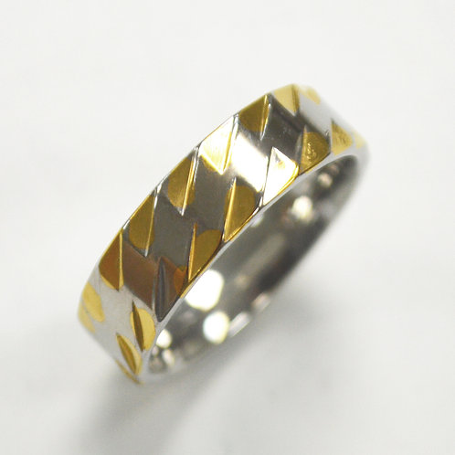 2 Tone Gold IP Plated RING 81-1347
