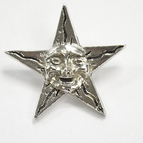 Star Face Pendant Sterling Silver 562185