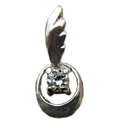 CZ Stone Pendant Sterling Silver 562070