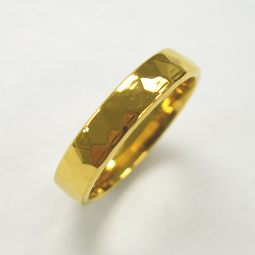Diamond Cut Gold Plated Ring (5mm) 81-1321G-5
