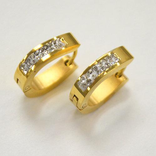 Gold Plated Huggies Earrings 83-450G