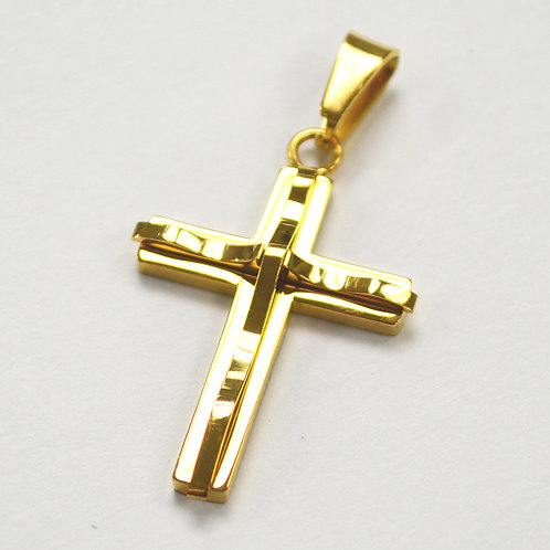 Cross  Gold IP Plated Pendant 86-924G-Sm