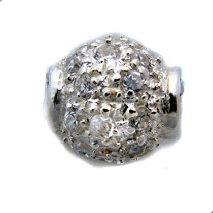 CZ Stone Pendant Sterling Silver 562089