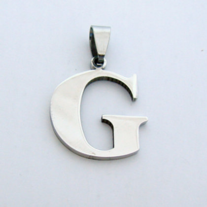 G Initial Pendant Stainless Steel (18x22mm)
