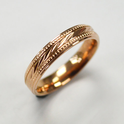 Rose Gold Plated Design Ring 81-1344