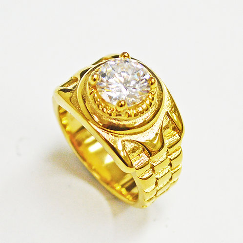 CZ  Gold Plated RING (14mm) 81-1319G