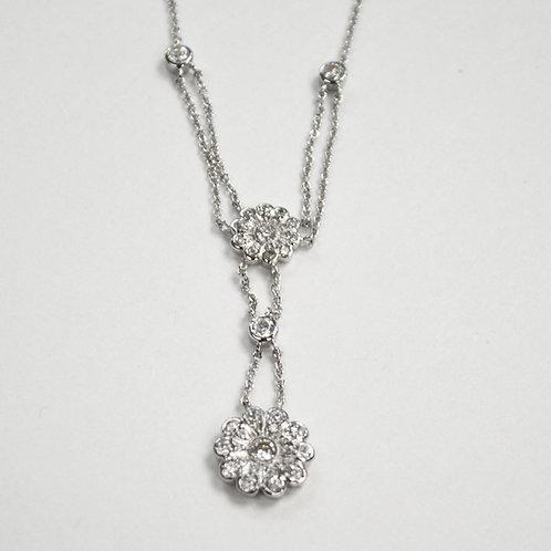 Designer Inspired Sterling Silver Necklace 551014
