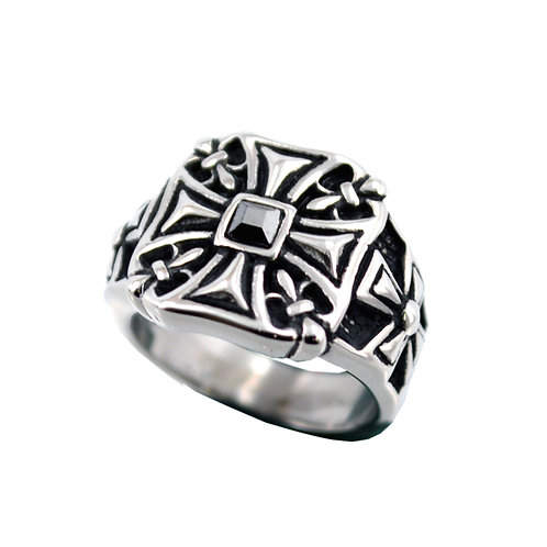 IRON CROSS STAINLESS RING 81-1162