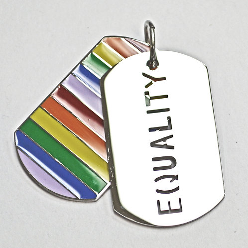 Equality Dog Tag Pendant Stainless Steel(28x47mm)