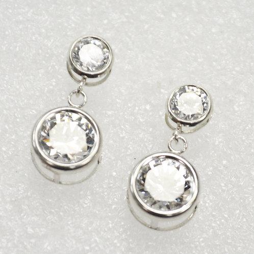 CZ Stone Sterling Silver Earrings 533014