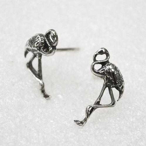 Flamingo Stud Sterling Silver Earrings 535254