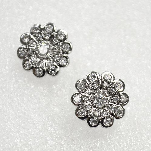 Designer Inspired Sterling Silver Earrings 533005