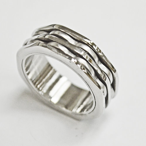 2 Line Stainless Steel Ring (8mm) 81-1284
