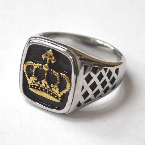 Crown 2 Tone Gold Ring 81-1275-2T