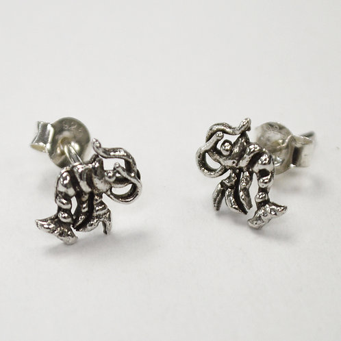 Shrimp Stud Sterling Silver Earring 535269