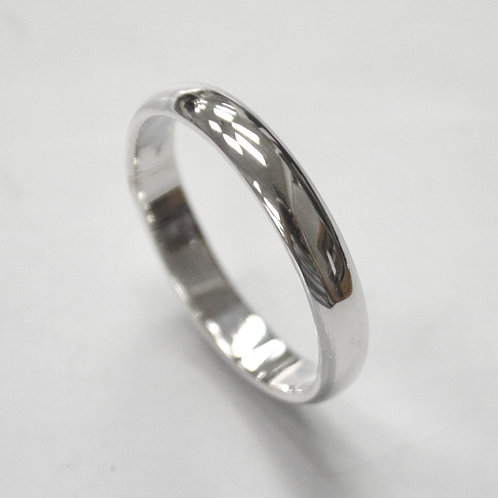 4mm Plain Band Ring Sterling Silver