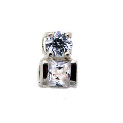 CZ Stone Pendant Sterling Silver 562103