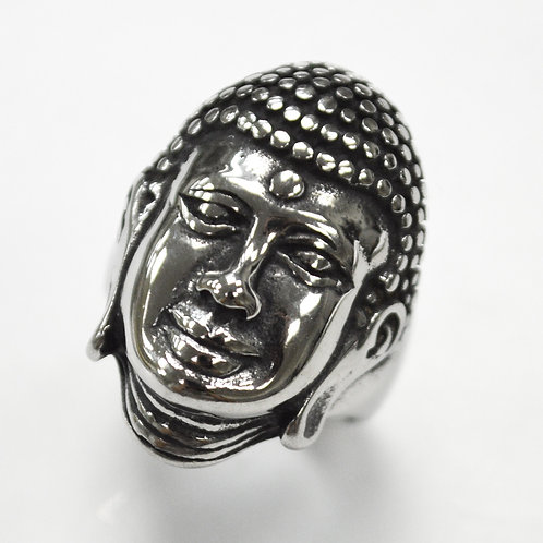Buddha Face Stainless Steel Ring 81-1361