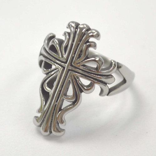 Cross Stainless Steel Ring  81-1438