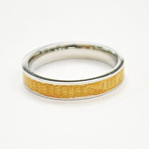 2 Tone Rose Gold Ring (4mm) 81-317