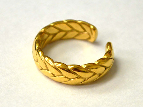 Braided Design Gold Plated Ring 81-1462G