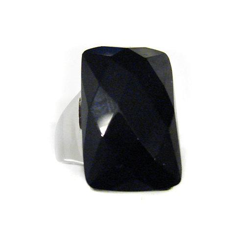 BLACK STONE RING (16x26mm) 81-764