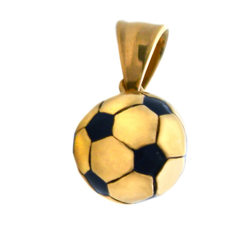 SOCCER BALL Gold Plated Pendant 86-1937G