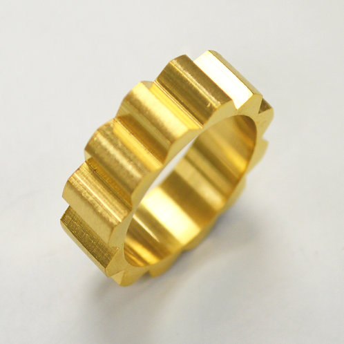 Gear Gold IP Plated  Ring 81-1367G