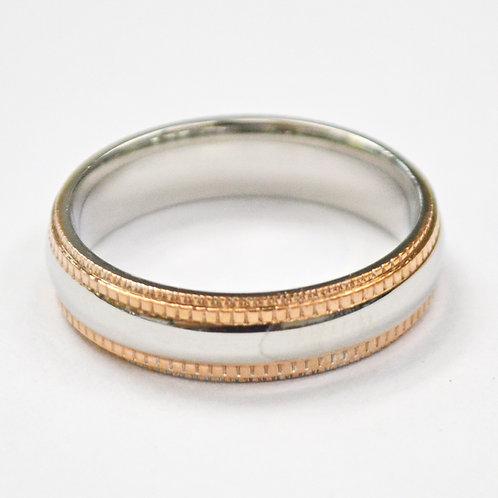 2 Tone Rose Gold Ring 81-323