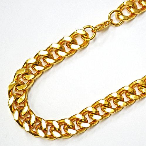 14m Gold IP Plate Cuban