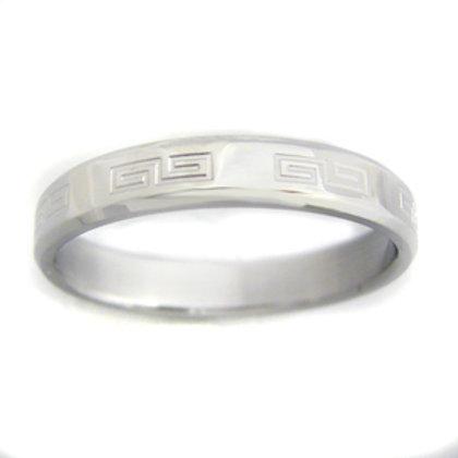Greek Key Design Ring (4mm) 81-436