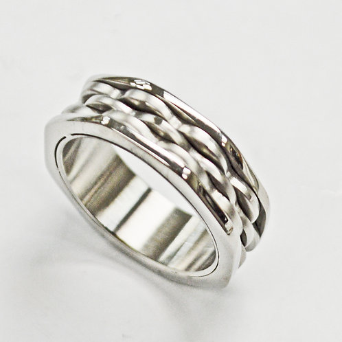 STAINLESS STEEL RING (8mm) 81-1285