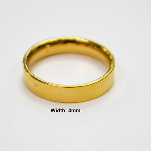 4MM GOLD FLAT BAND RING 81-827-4