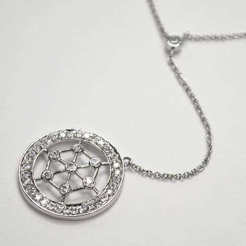 Designer Inspired Sterling Silver Necklace 551005