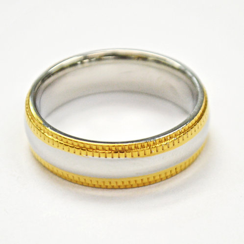2 Tone Gold Ring (6mm) 81-322