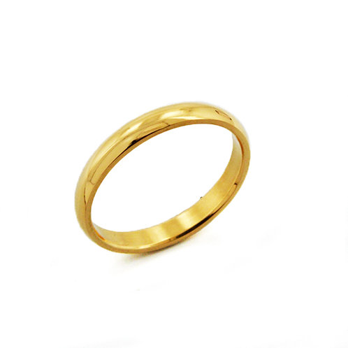 3MM GOLD PLAIN BAND RING 81-640-3