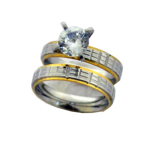 WEDDING SET RING (4x7mm) 81-1201