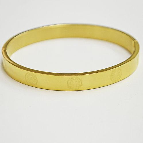 San Beneto Gold Plated Bangle 84-1718G