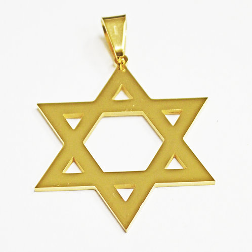 Gold Plated Star of David Pendant