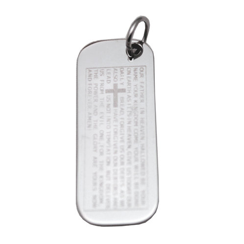 The Lord's Prayer Dog Tag Pendant 86-1969