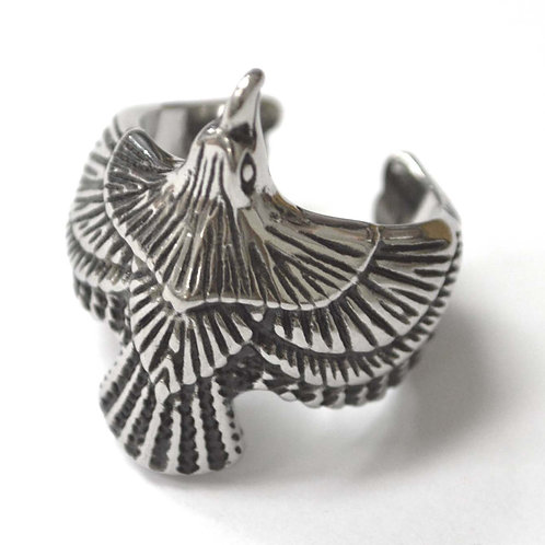 Raven Stainless Steel Ring 81-1463