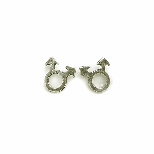 Male Symbol Stud Earring