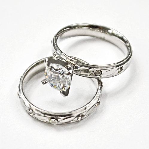 WEDDING SET RING (4mm) 81-1193