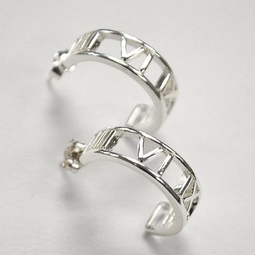 Designer Inspired Sterling Silver Earrings 533026