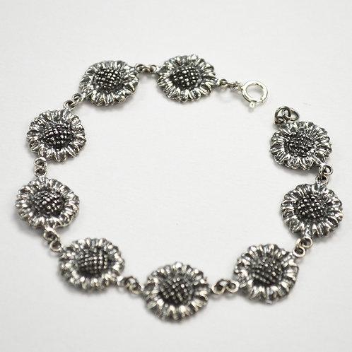 Sunflower Sterling Silver Bracelet 542042