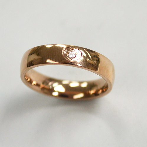 Rose Gold Plated Design Ring 81-1343